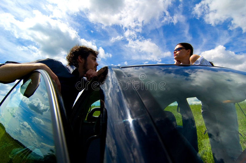 Download Road Trip Relaxation stock photo. Image of couple, friend - 1421020