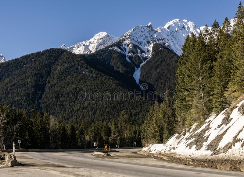 Road Trip in the Rocky Mountains on banff to windermere highway Kootenay Valley Viewpoint. Canada, landscape, nature, sky, travel, beautiful, blue, scenery royalty free stock photos