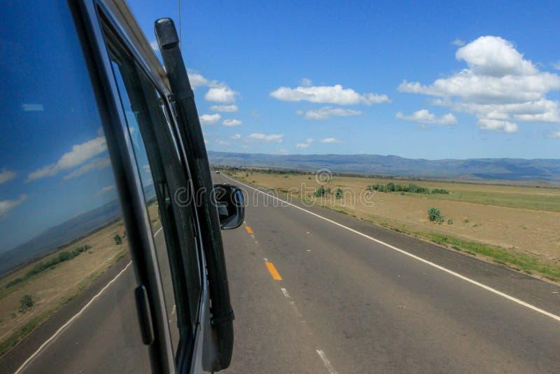 Road trip to safari royalty free stock photos