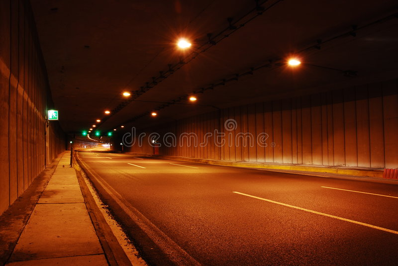 Download Road tunnel stock image. Image of busy, glow, commuter - 3384305