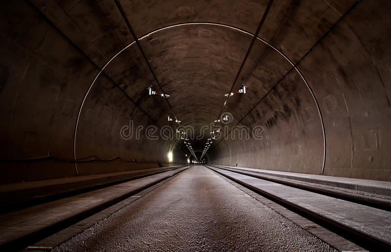 Road tunnel royalty free stock image