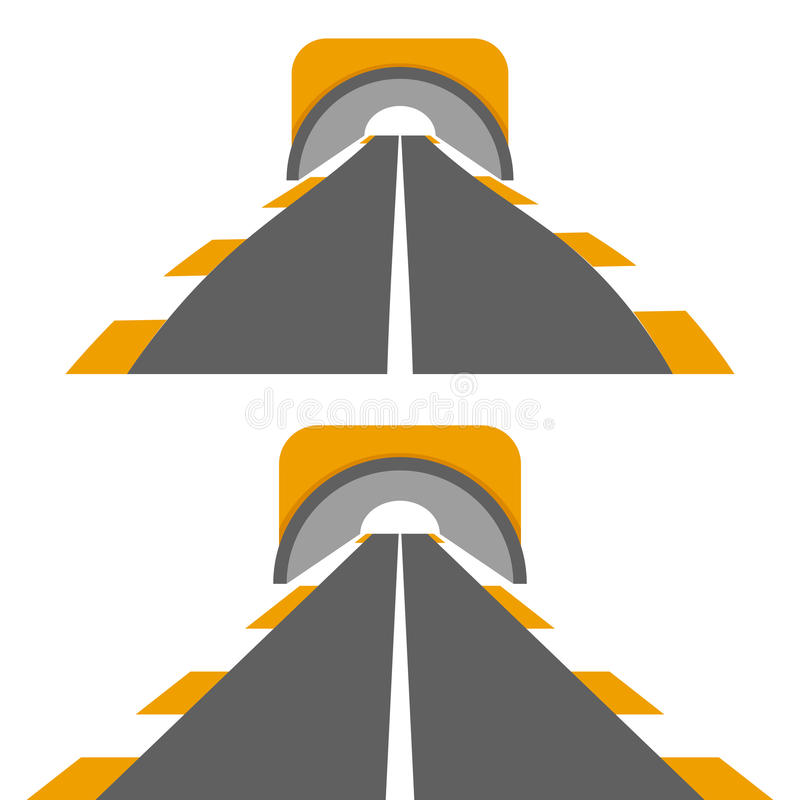 Road with tunnel royalty free illustration