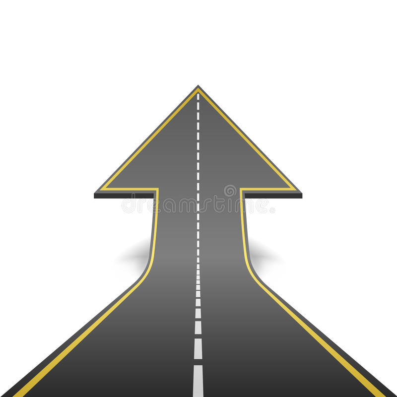 Download Road Turning Ascending Arrow Stock Photography - Image: 31943832