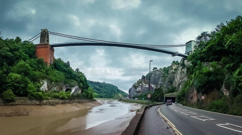 Road under the Clifton Bridge royalty free stock photography