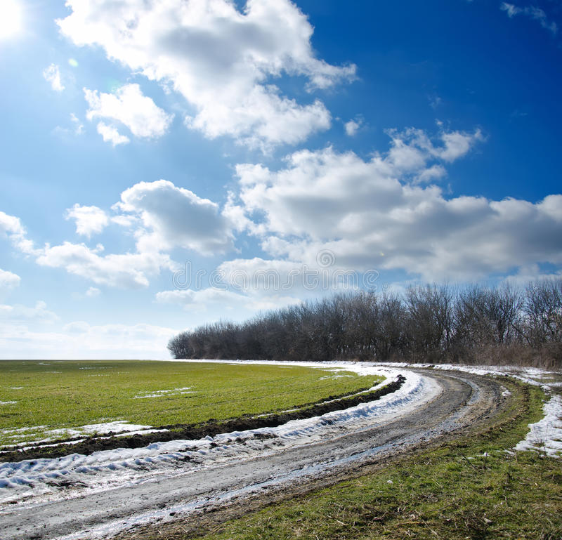 Download Road Under Cloudy Sky Stock Images - Image: 22745294