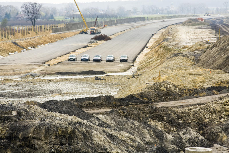 Download Road under construction stock photo. Image of load, excavate - 30532278