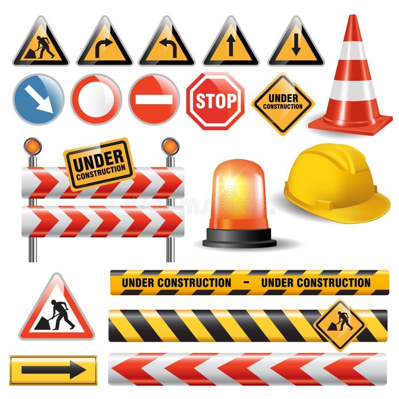 Road under construction vector illustration
