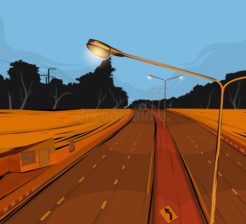 Road underpass scene stock vector. Illustration of street - 78606679