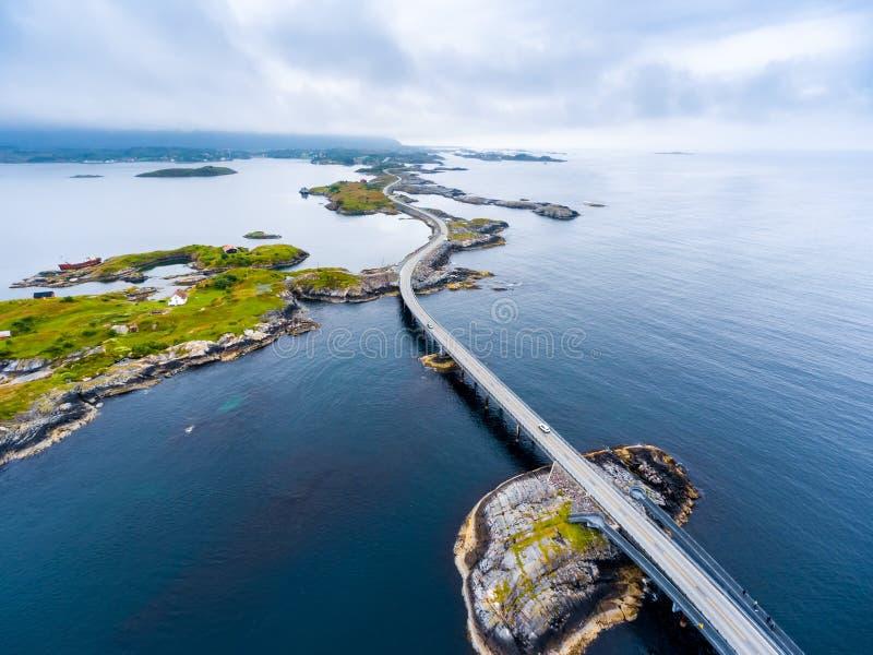 Road van de Atlantische Oceaan luchtfotografie royalty-vrije stock fotografie