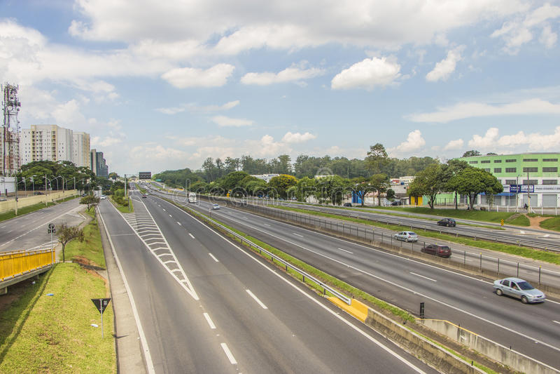 Road van Dutra van Presidente - Brazilië royalty-vrije stock fotografie