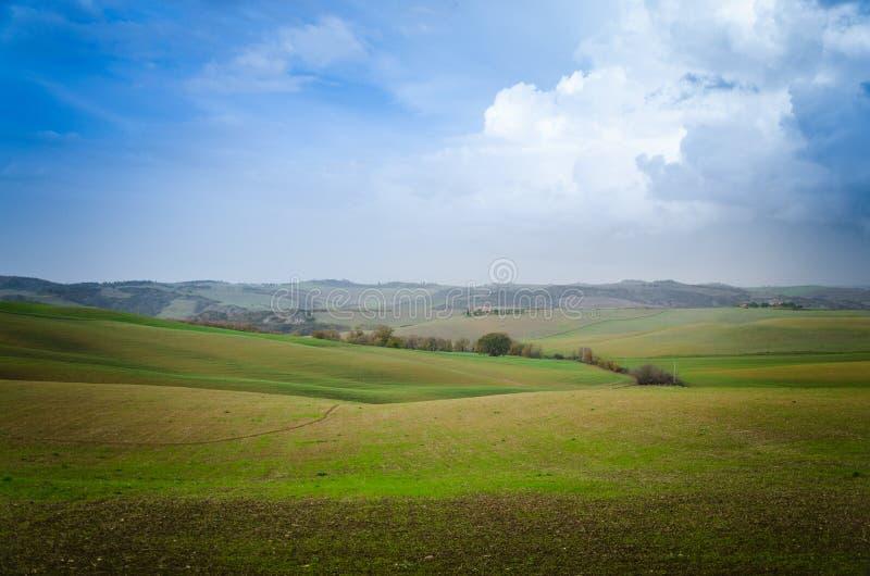 Road van Toscanië stock fotografie
