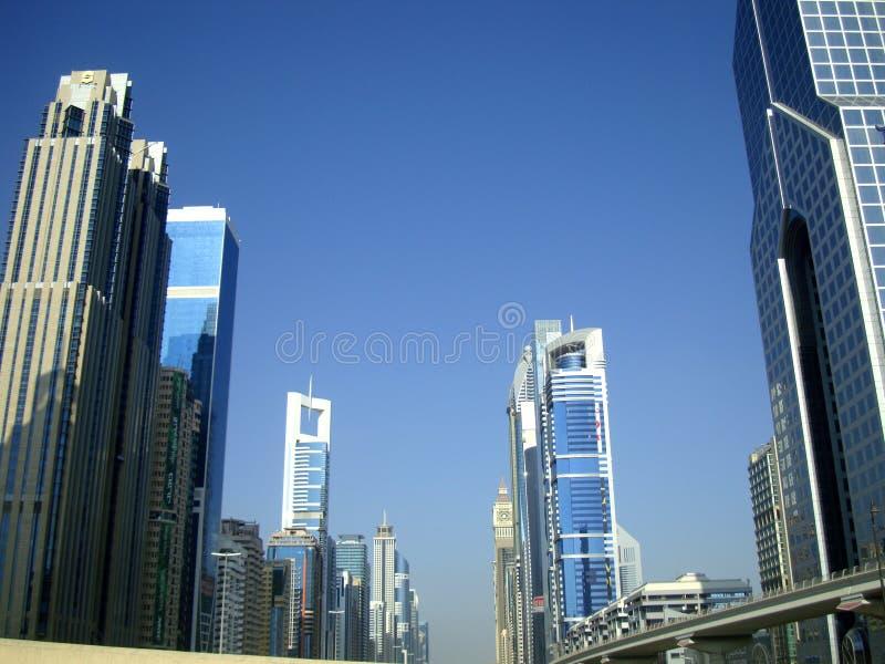 Road van Zayed van de sjeik in Doubai royalty-vrije stock foto's