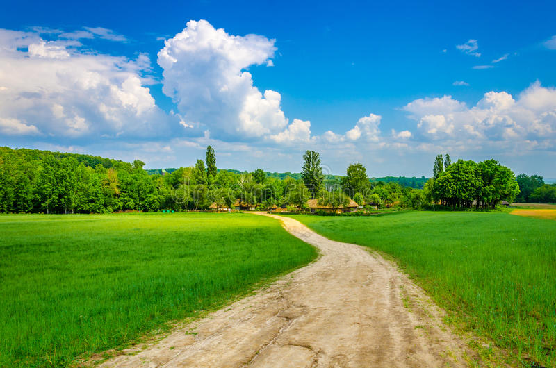 Road in village royalty free stock photo