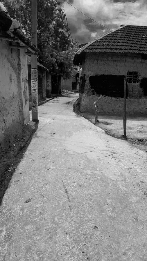 The road through the Village stock photos