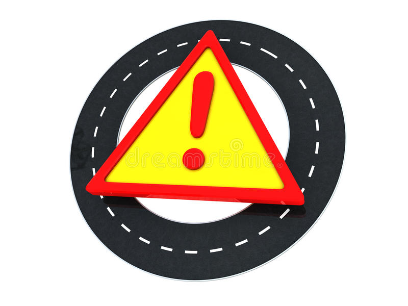 Download Road warning stock illustration. Image of danger, asphalt - 9750502