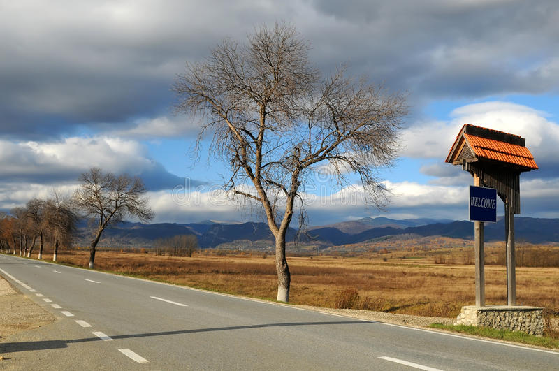 Download Road, welcome stock photo. Image of road, highway, country - 12742010