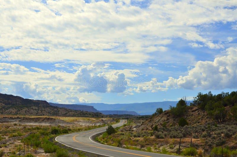 Road in western colorado stock photos