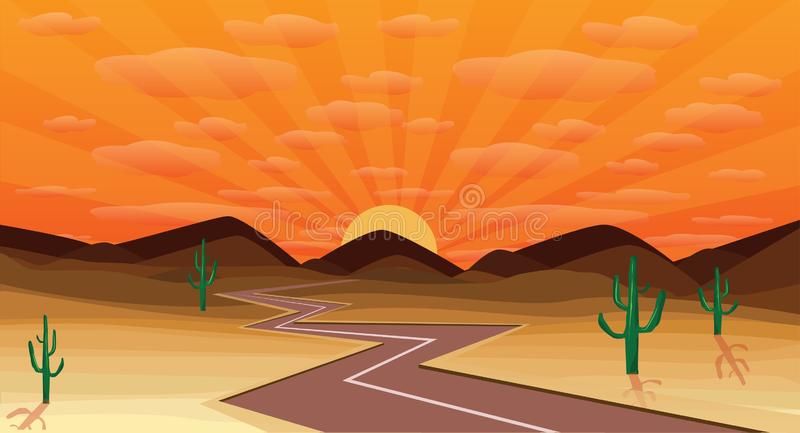 Western desert royalty free stock photos