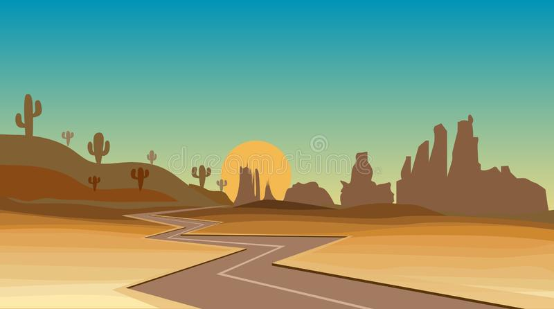 Western desert royalty free stock photography