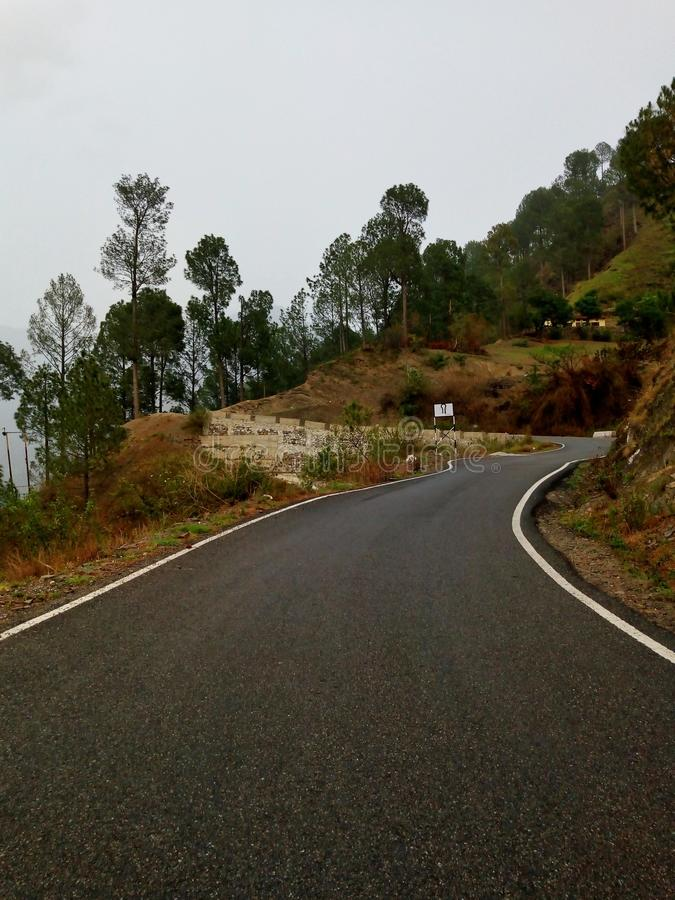 Road through hills royalty free stock photography