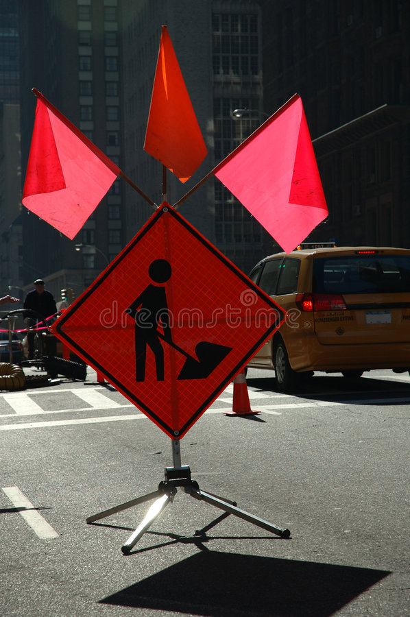 Download Road work stock image. Image of danger, work, sign, regulation - 74971