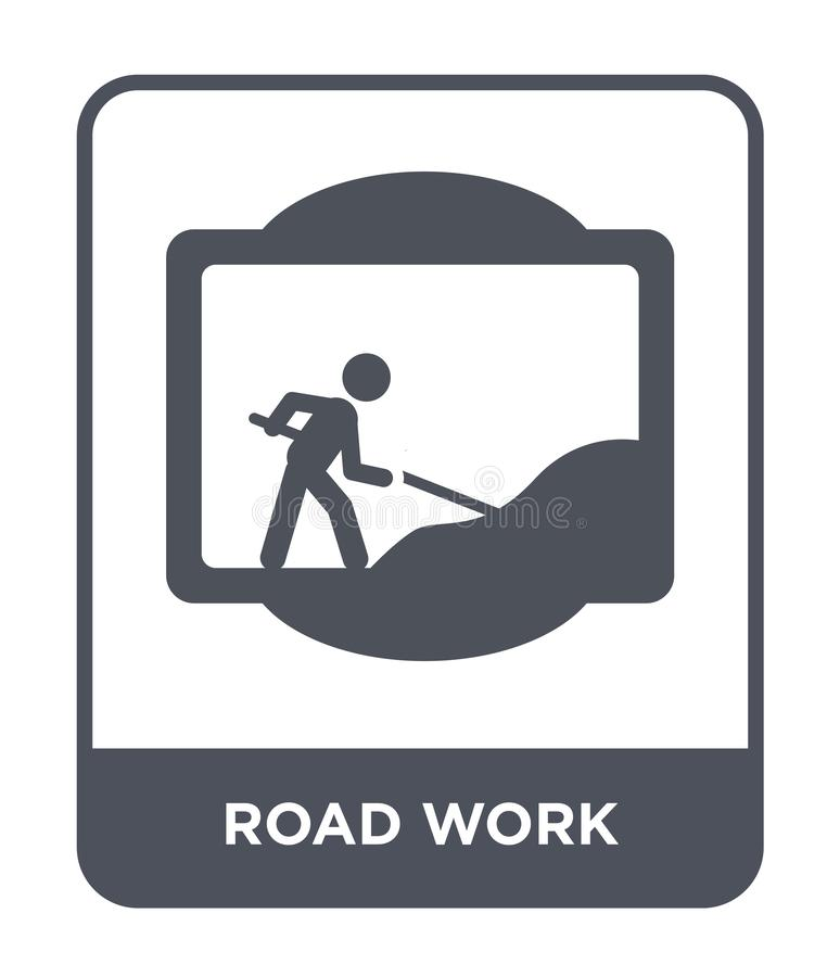road work icon in trendy design style. road work icon isolated on white background. road work vector icon simple and modern flat vector illustration