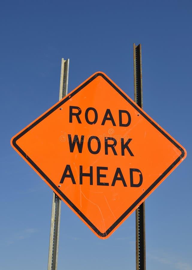 road work warning sign stock image image 17855641