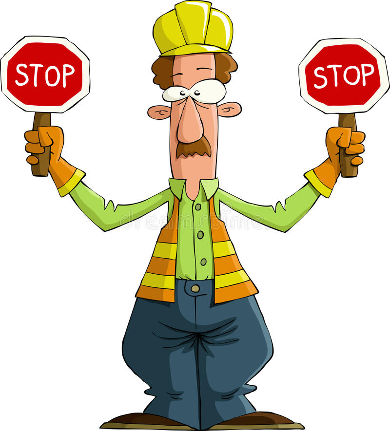 Download Road worker stock vector. Image of profession, helmet - 21877843