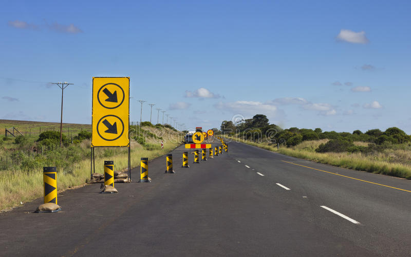 Download Road works stock photo. Image of signage, arrows, narrowing - 24454496