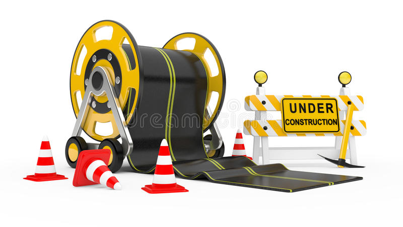 Download Road works stock illustration. Image of street, caution - 24804187