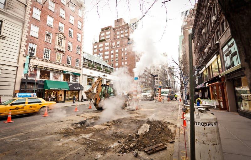 Road Works On Madison Avenue Editorial Image