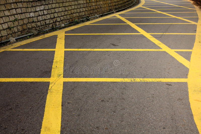 Download Road with yellow lines stock photo. Image of direction - 18430076