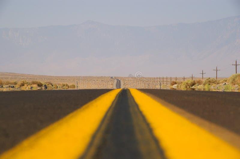 Road, Yellow, Sky, Horizon royalty free stock images