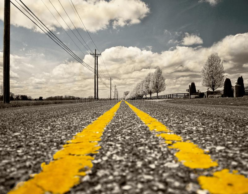 Road, Yellow, Sky, Lane royalty free stock image