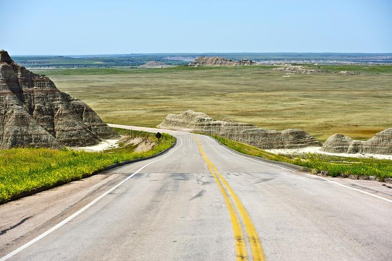 Road Zuid- van Dakota stock foto