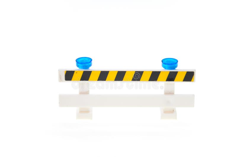 Roadblock isolated on white stock photo