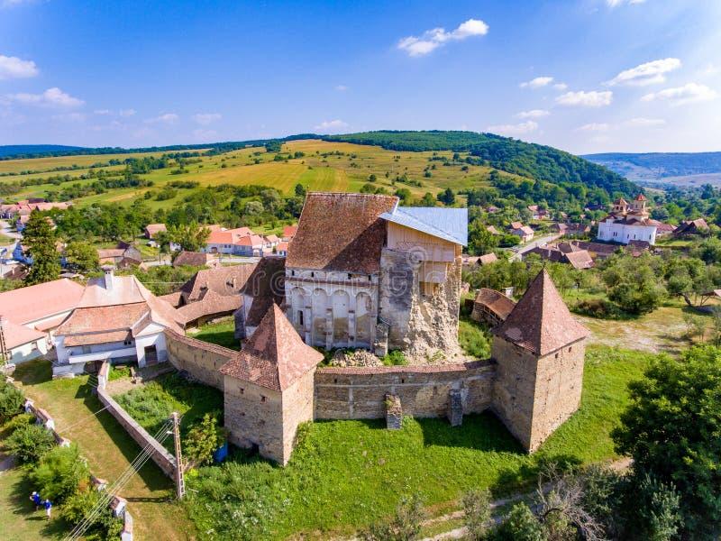 Roades a enrichi l'église de Saxon en Transylvanie Roumanie près de Sighi photographie stock