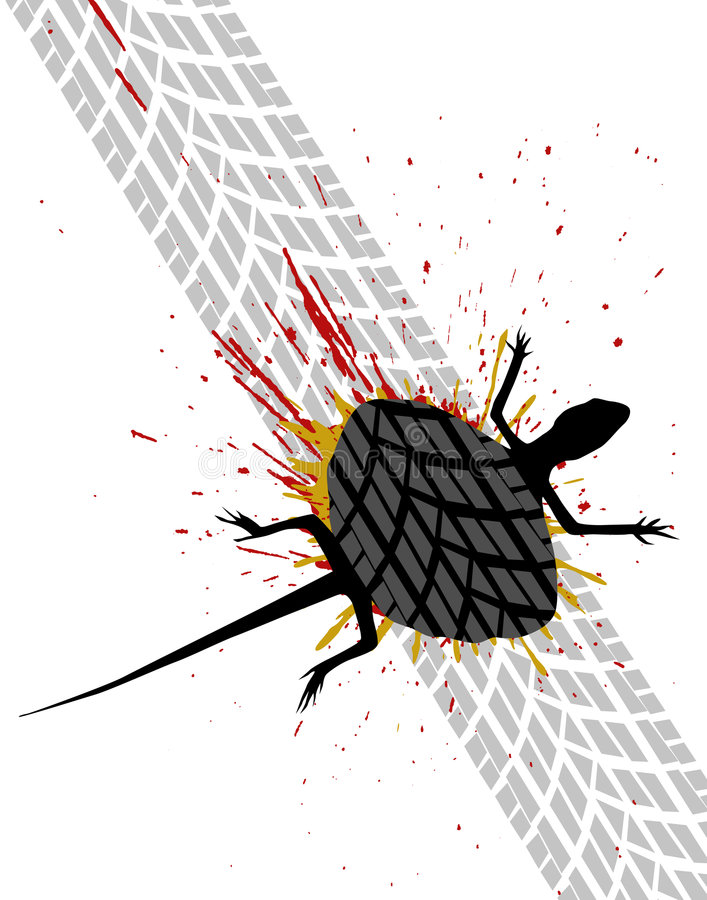 Download Roadkill stock vector. Image of accident, squashed, illustration - 5945497