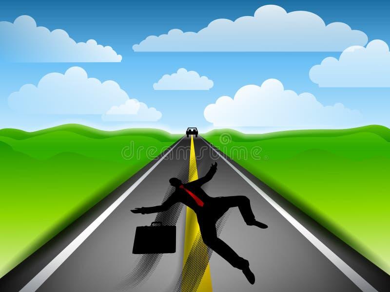 Roadkill Businessman Highway royalty free illustration