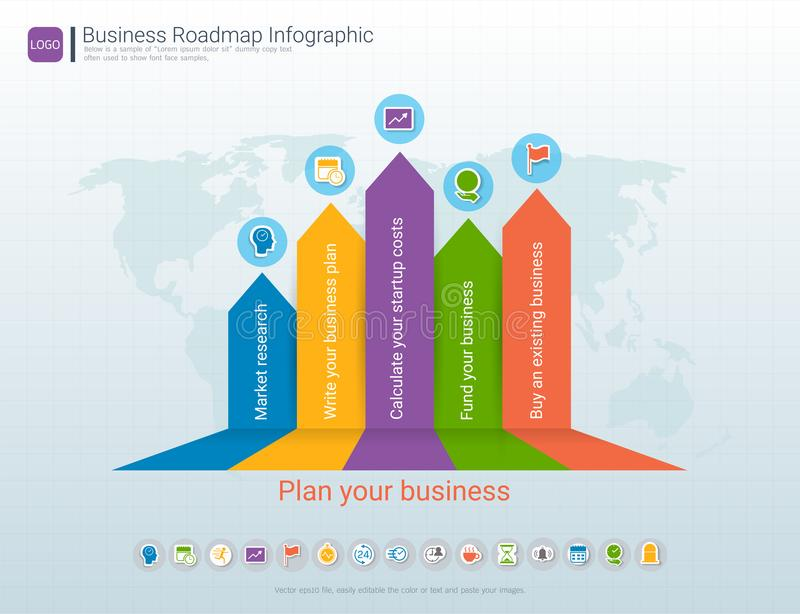 Roadmap Timeline Infographic Design Template Key Success And - Leadership roadmap template