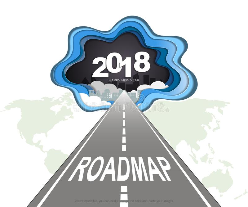 Roadmap timeline infographic design template vector illustration