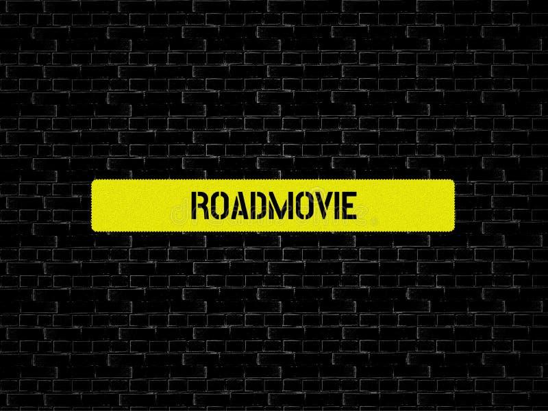 ROADMOVIE - wizerunek z słowami kojarzącymi z tematu filmem, słowo, wizerunek, ilustracja ilustracji