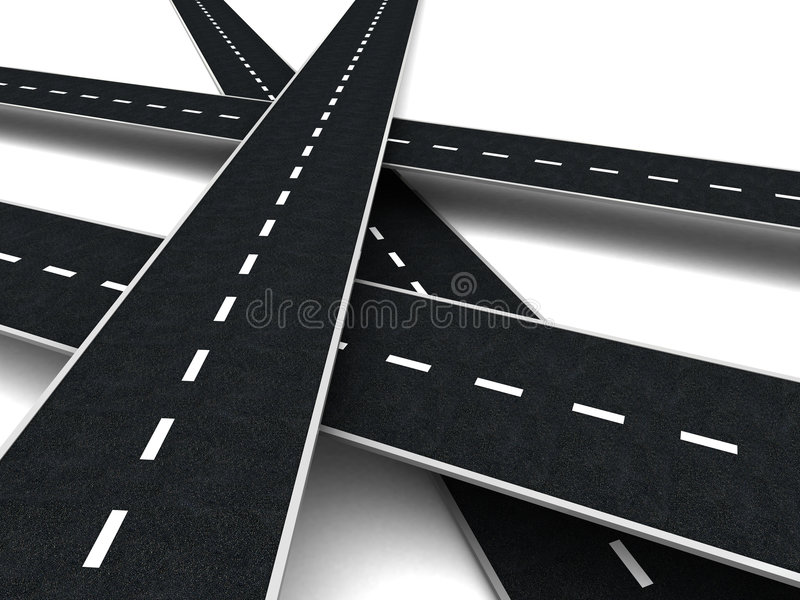 Download Roads stock illustration. Image of abstract, group, decision - 8681819