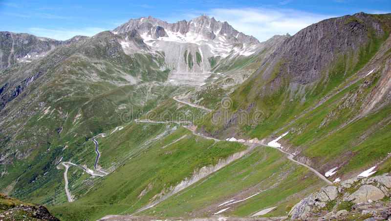 Roads in the Alps stock photography