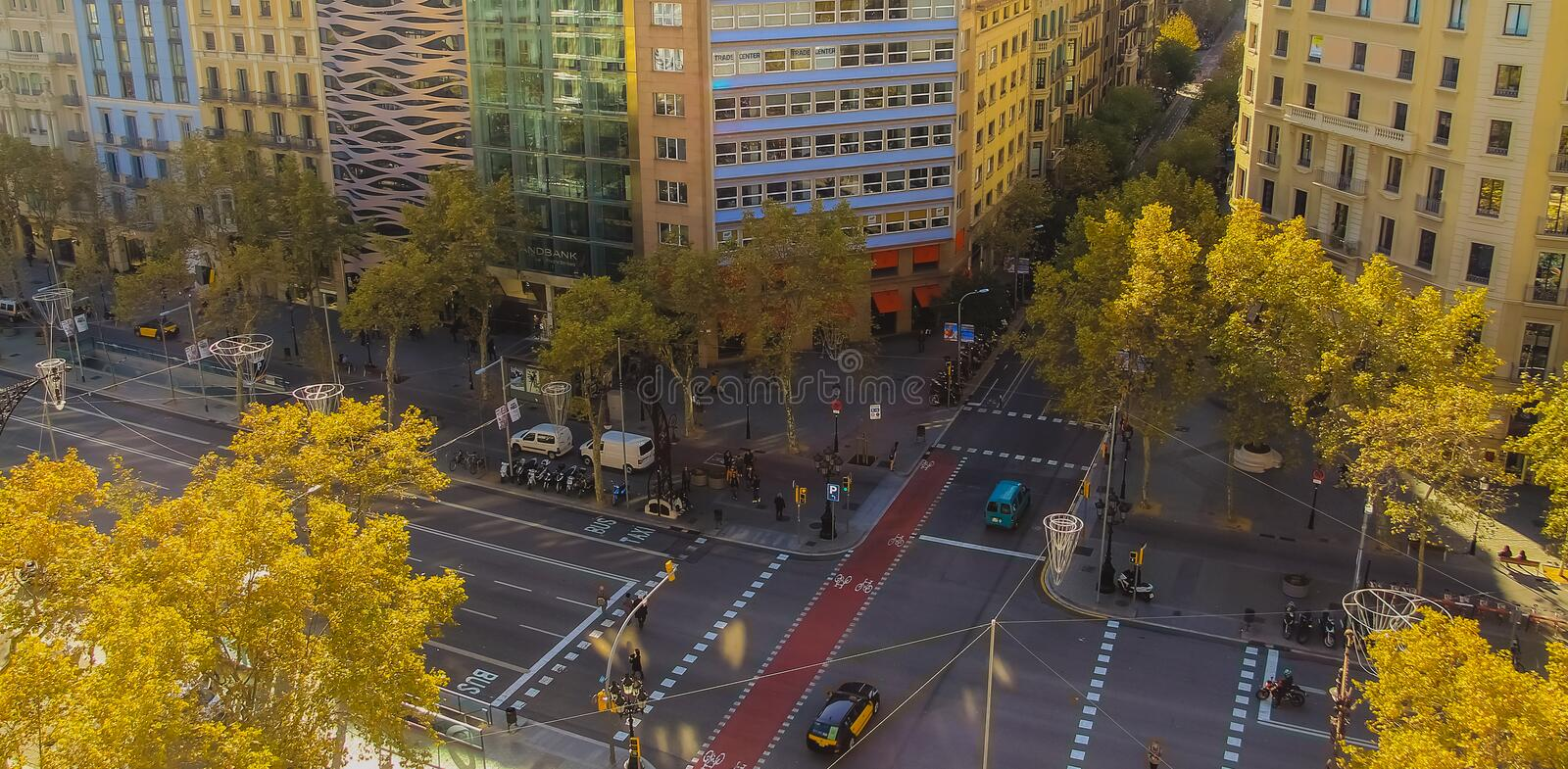 Roads in Barcelona stock images
