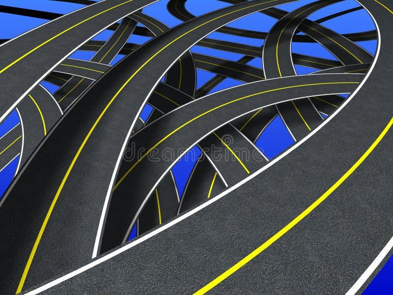 Download Roads (continuous strip) stock illustration. Illustration of asphalt - 930075