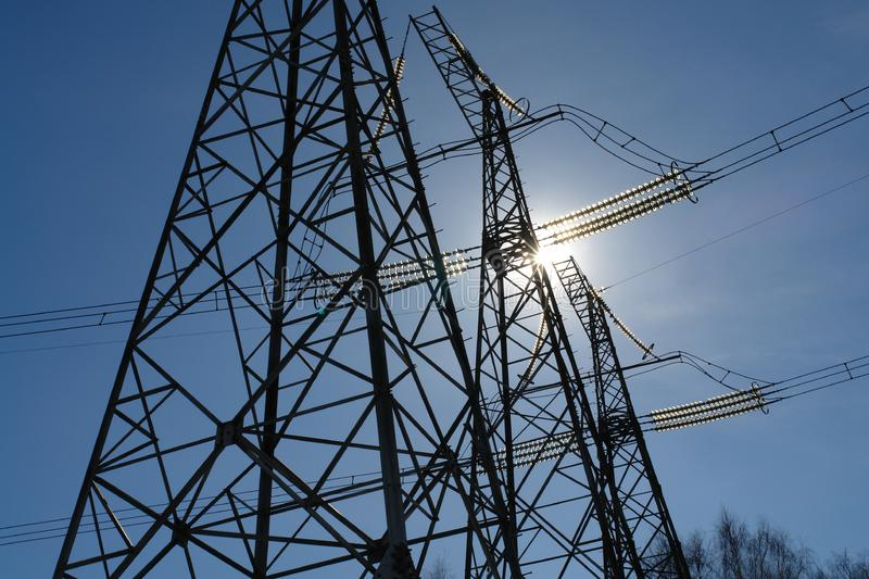 Download Roads of an electricity. stock image. Image of power, iron - 637873