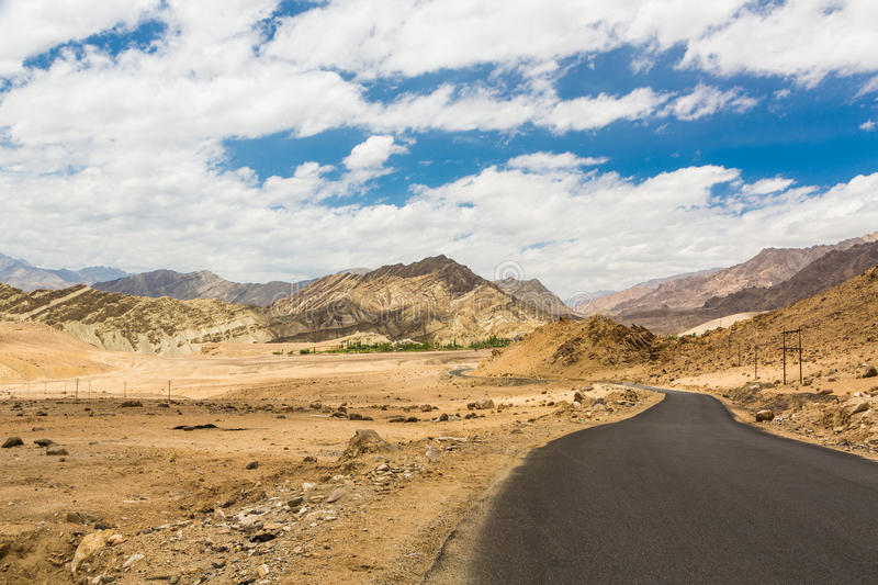 The roads of Ladakh near Leh in India royalty free stock images
