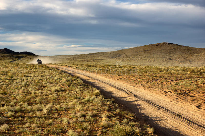Roads in the Mongolia stock image