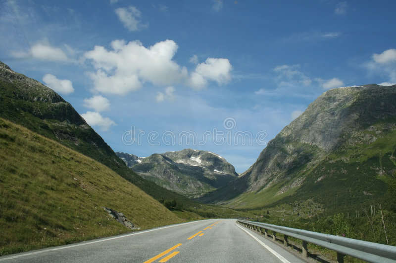 Roads in the mountains stock images